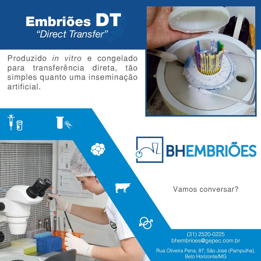 A BH Embriões também faz Embriões DT